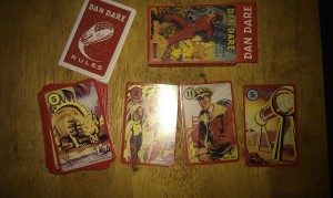 Cards from the Dan Dare card game